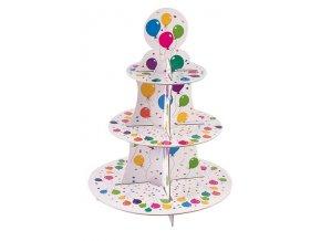 Party stojan na cupcakes - 3 patrový