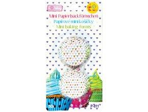 Alvarak papírové košíčky na pralinky Barevné trojúhelníky a kolečka (50 ks)