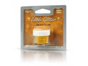 RD Edible Glitter - Golden yellow  - žlutý 5g