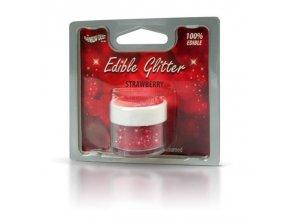 RD Edible Glitter - Strawberry - červené 5g