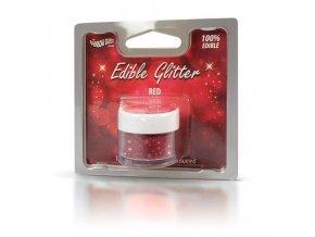 RD Edible Glitter - Red - červené 5g
