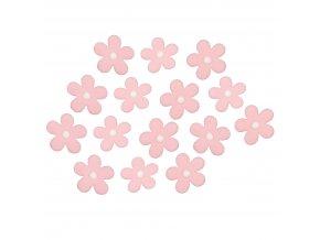 Ručně modelované květy 20ks - světle růžové