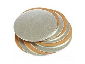 Kulatá podložka pod dort zlatá - stříbrná 30cm - 1 KUS