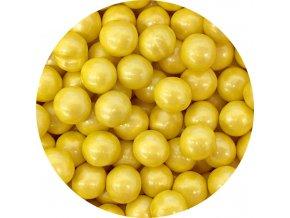 Čokoládové perly žluté 9 mm (50 g)