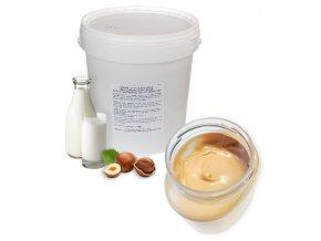 Krém nugátový gianduia mléčný (světlý) 1 kg/kbelík