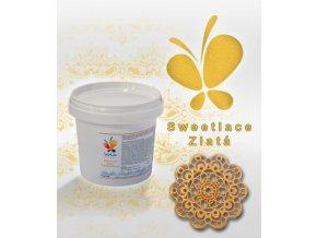 Sladká krajka Sweet lace hotová AF (zlatá) 200 g/kbelíček