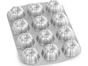 NW Brownie plát s 12 formičkami stříbrný 52824 Nordic Ware