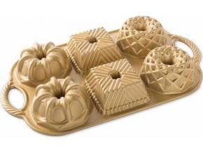 NW Minibábovky plát se 6 formičkami zlatá 91277 Nordic Ware