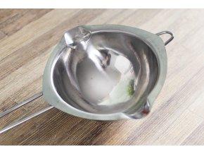 naczynie do rozpuszczania czekolady w kapieli wodnej stalowe silver 4