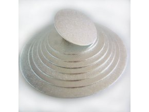 FunCakes kulatá podložka pod dort stříbrná 25cm/4mm