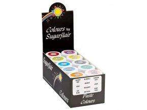 Sugarflair paste colours pastel collection set 10ks