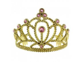 0002294 korunka pro princezny s ruzovymi kameny zlata 510