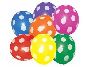 Alvarak Balónky s puntíky barevné (7 ks)