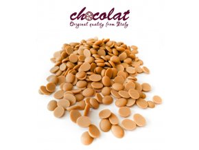 Čokoláda bílá extra s karamelem 35% (pecky) 1 kg/sáček