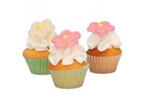 FunCakes marcipánová dekorace - květiny - růžová/bílá - 12ks