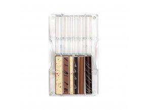 Decora polykarbonátová forma na čokoládu Tyčinky