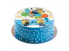Jedlý papír na dort 16cm Mimoni - Dekora