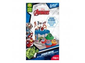 13ks dekorací k vystřižení na dort nebo cupcake Avengers Marvel - Dekora
