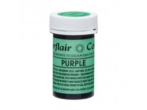 Sugarflair NatraDi Natural Purple - přírodní barvivo gelové - fialová