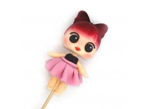 Ručně modelovaná figurka na dort: L.O.L. SURPRISE - růžová