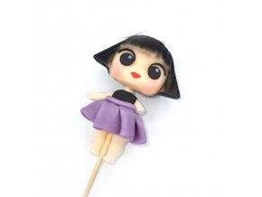Ručně modelovaná figurka na dort: L.O.L. SURPRISE - fialová