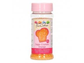 FunCakes dekorační cukr - oranžový - 80g