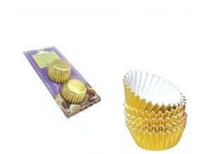 Alvarak hliníkové košíčky na pralinky zlaté (50 ks)