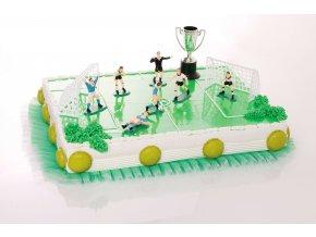 kit de décoration football avec joueurs cages et coupe