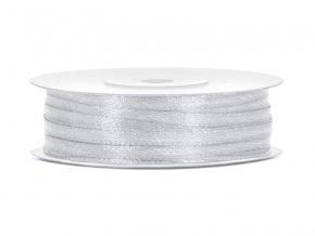 Stříbrná stuha 3 mm x 50 m (1 ks)