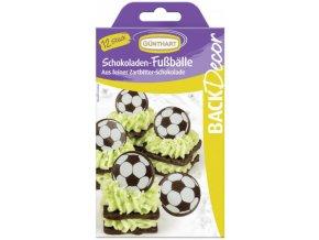 Čokoládová dekorace fotbalový míč - 12ks čokoládek