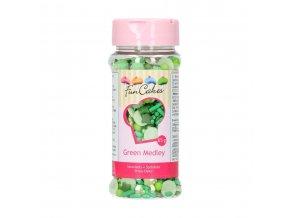 FunCakes Cukrové zdobení zelené Green Medley (65 g)