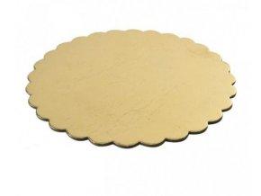 0000432 podlozka dortova zlata prumer 32 cm kopretina 510