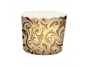 Košíček na muffin pevný - hnědý - 24ks