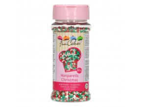 FunCakes Cukrový máček bílý, červený a zelený (80 g)
