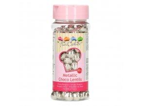 FunCakes Čokoládové lentilky stříbrné (80 g)