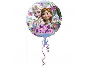 Foliový balonek Frozen - Ledové království Happy Birthday 43 cm