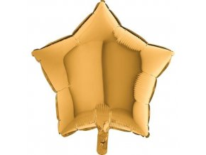 Foliový balonek hvězda zlatý 45 cm
