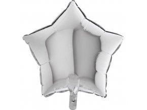 Foliový balonek hvězda stříbrný 45 cm