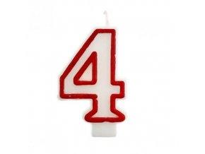 Svíčka narozeninová číslice 4