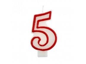 Svíčka narozeninová číslice 5
