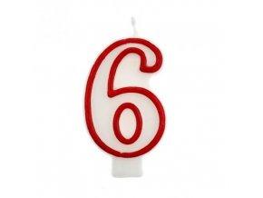 Svíčka narozeninová číslice 6