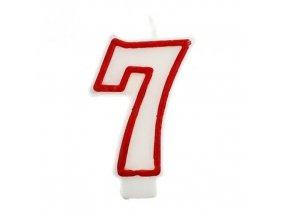 Svíčka narozeninová číslice 7