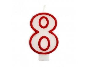 Svíčka narozeninová číslice 8