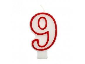 Svíčka narozeninová číslice 9