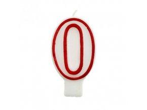 Svíčka narozeninová číslice 0