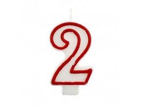 Svíčka narozeninová číslice 2