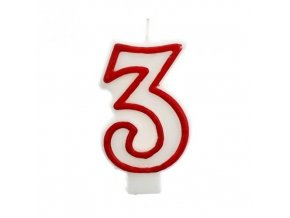 Svíčka narozeninová číslice 3