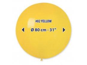 Obří nafukovací balon - žlutá