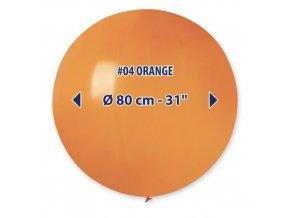Obří nafukovací balon - oranžová