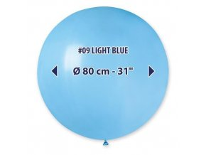 Obří nafukovací balon - světle modrá